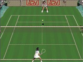 In game image of Reality Tennis on the Arcade.