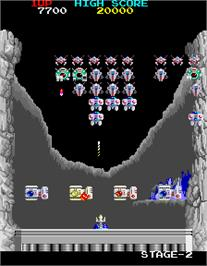 In game image of Return of the Invaders on the Arcade.