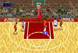 In game image of Rim Rockin' Basketball on the Arcade.