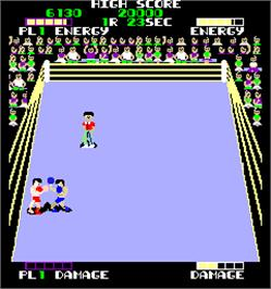 In game image of Ring Fighter on the Arcade.