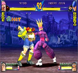 In game image of Rival Schools on the Arcade.