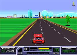 In game image of Road Blasters on the Arcade.