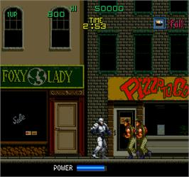 In game image of Robocop on the Arcade.