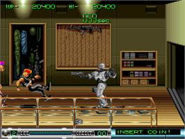 In game image of Robocop 2 on the Arcade.
