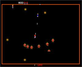 In game image of Robotron on the Arcade.
