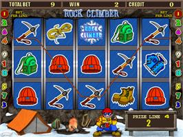 In game image of Rock Climber on the Arcade.