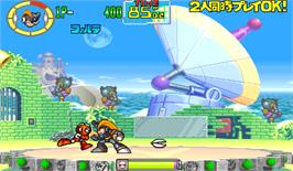 In game image of Rockman: The Power Battle on the Arcade.