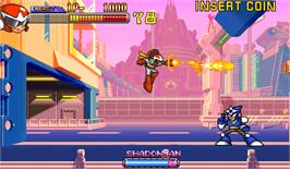 In game image of Rockman 2: The Power Fighters on the Arcade.