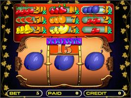 In game image of Roll Fruit on the Arcade.