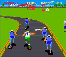 In game image of Roller Jammer on the Arcade.