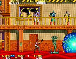 In game image of Rolling Thunder 2 on the Arcade.