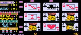 In game image of Royal Poker '96 on the Arcade.