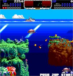In game image of Run Deep on the Arcade.