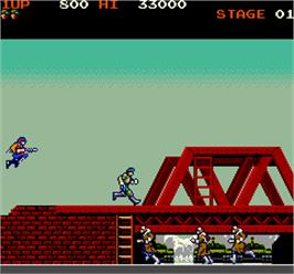 In game image of Rush'n Attack on the Arcade.