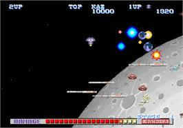 In game image of SDI - Strategic Defense Initiative on the Arcade.