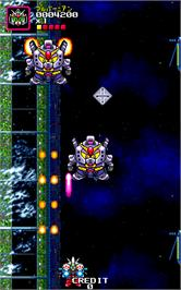 In game image of SD Gundam Neo Battling on the Arcade.