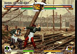 In game image of SNK vs. Capcom - SVC Chaos Plus on the Arcade.