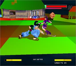 In game image of Samurai Shodown 64 / Samurai Spirits 64 on the Arcade.