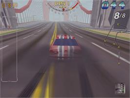 In game image of San Francisco Rush on the Arcade.