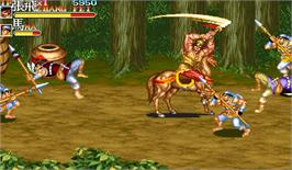 In game image of Sangokushi II on the Arcade.