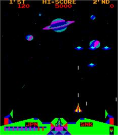 In game image of Satan of Saturn on the Arcade.