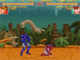 In game image of Schmeiser Robo on the Arcade.
