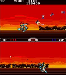 In game image of Scooter Shooter on the Arcade.