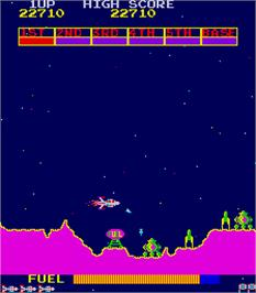 In game image of Scramble on the Arcade.