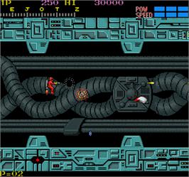 In game image of Section Z on the Arcade.
