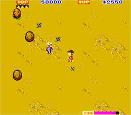 In game image of Sega Ninja on the Arcade.