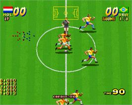 In game image of Seibu Cup Soccer :Selection: on the Arcade.
