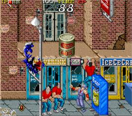 In game image of Shadow Warriors on the Arcade.