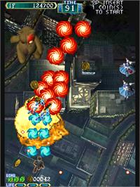 In game image of Shikigami no Shiro on the Arcade.