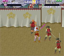 In game image of Shingen Samurai-Fighter on the Arcade.