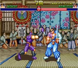 In game image of Shogun Warriors on the Arcade.