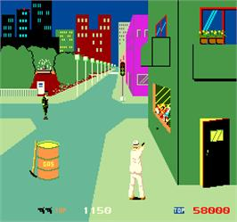 In game image of Shoot Out on the Arcade.