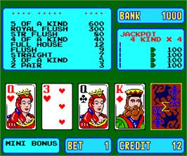 In game image of Sigma Poker on the Arcade.