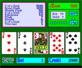 In game image of Sigma Poker 2000 on the Arcade.