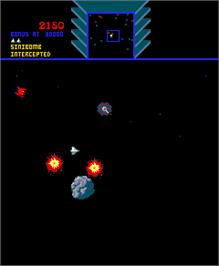 In game image of Sinistar on the Arcade.