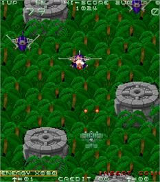 In game image of Sky Adventure on the Arcade.