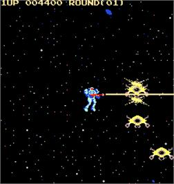 In game image of Sky Lancer on the Arcade.