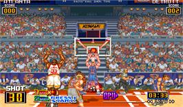 In game image of Slam Dunk on the Arcade.