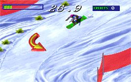 In game image of Snow Board Championship on the Arcade.