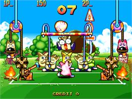 In game image of Sokonuke Taisen Game on the Arcade.