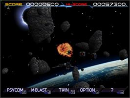 In game image of Solar Assault on the Arcade.