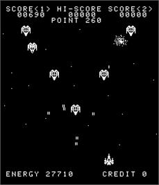 In game image of Solar Fight on the Arcade.
