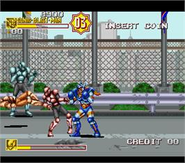 In game image of Sonic Blast Man 2 Special Turbo on the Arcade.