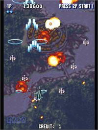 In game image of Sonic Wings Limited on the Arcade.