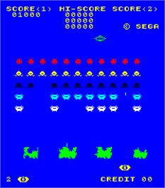 In game image of Space Attack on the Arcade.
