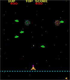 In game image of Space Battle on the Arcade.